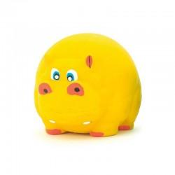 Hipopótamo amarillo látex 7cm