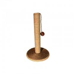Rascador con poste y bola marrón