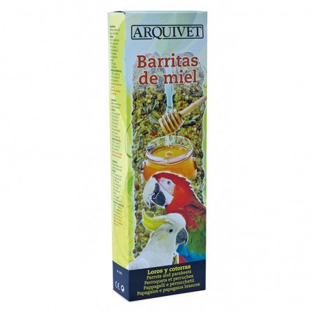 Barritas de miel para loros y cotorras 150g