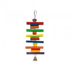 Maderas de colores y campana- 10 x 28 cm
