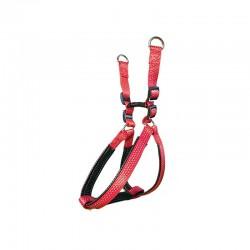 Arnés nylon liso rojo - 2,5 x 55-75 cm