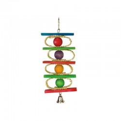 Aros, bolas de colores y campana- 10 x 25 cm