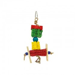 Pajaritos y campana- 14 x 23 cm