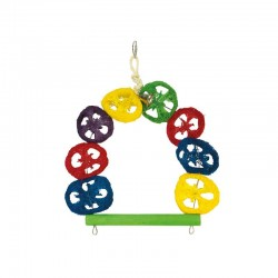 Columpio multicolor- 1 campana- 27 x 30 cm