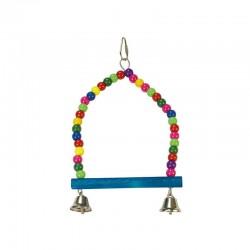 Columpio multicolor- 2 campana-  15 x 24 cm