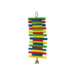 Maderas multicolor-1 campana- 10,5 x 26 cm