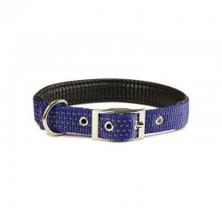 Collar nylon liso azul - 2,5 x 53 cm