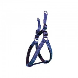 Arnes nylon liso azul 2.5 x 55-75 cm