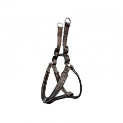 Arnes nylon liso negro - 2,5 x 55-75 cm