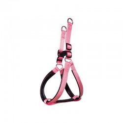 Arnes nylon liso rosa 1.5 x 40-50 cm