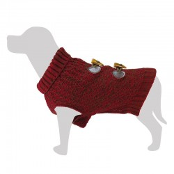 Jersey lana burdeos 20 cm.