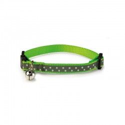 Collar gato reflectante verde 1x20/25 cm.