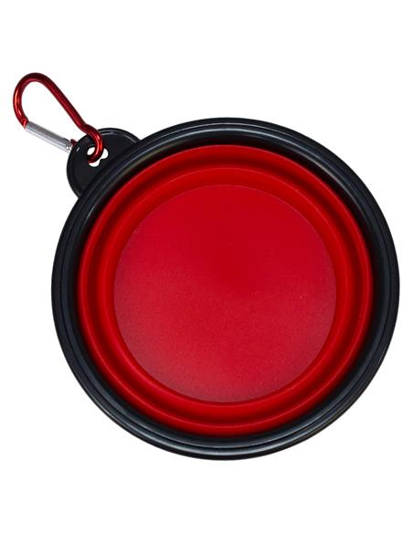Comedero silicona plegable rojo 13x5,5x9cm