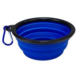 Comedero silicona plegable azul 13x5,5x9cm