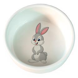 Comedero ceramica Conejo 300ml 11cm.