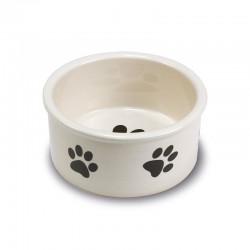 Comedero ceramica Huellas 12cm.