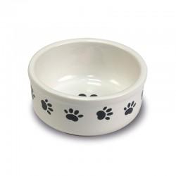 Comedero ceramica Huellas 15cm.