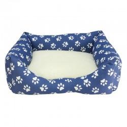 Cama Huellas Azules 60x55x18cm