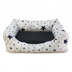 Cama cuadrada Estrellas Negras - 50x45x17cm