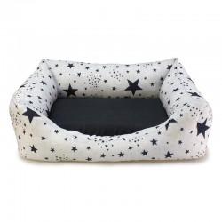 Cama cuadrada Estrellas Negras 70x60x20cm